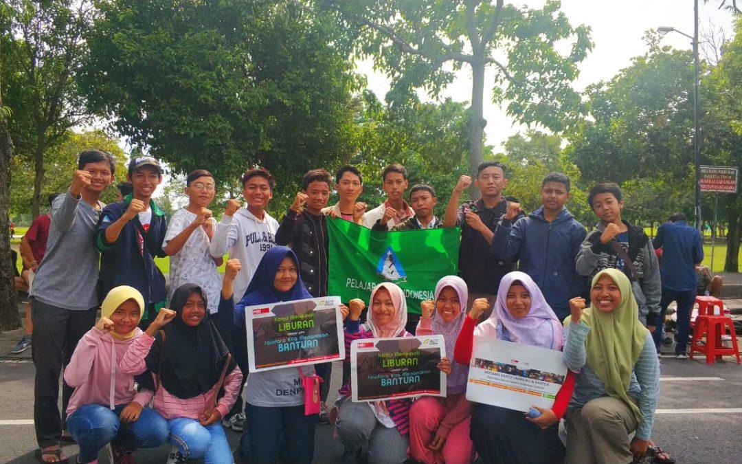 PII Aksi Galang Dana Untuk Banten dan Jembrana di Renon